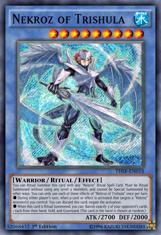 Nekroz Of Trishula By Kai1411 With Images Yugioh Cards