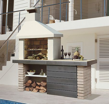 Construir barbacoa para jardin 4 barbacoa pinterest - Barbacoas exteriores de obra ...