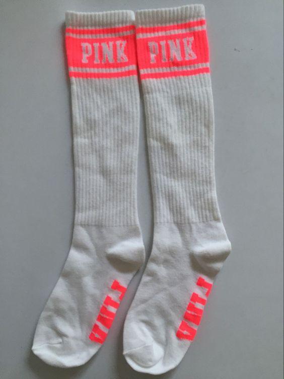 Ladies PINK Knee High Socks