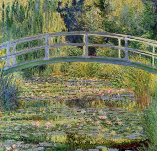 The Japanese Bridge (The Water-Lily Pond) - Claude Monet: