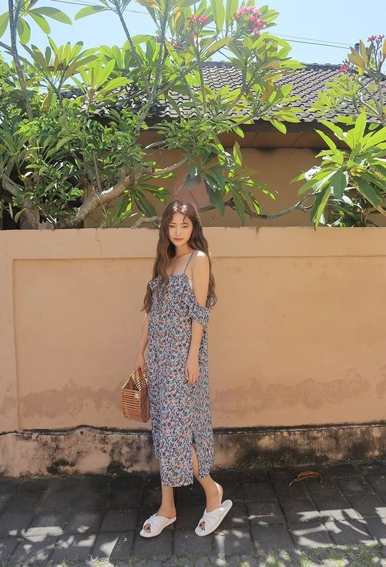 Ulzzang Summer Dress Outfit