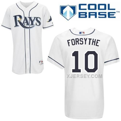 http://www.xjersey.com/rays-10-forsythe-white-cool-base-jerseys.html Only$43.00 RAYS 10 FORSYTHE WHITE COOL BASE JERSEYS #Free #Shipping!