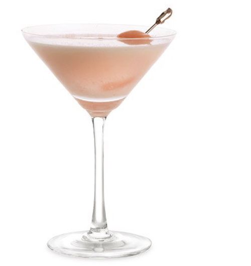 Lychee Martini (my very favorite martini)-  Ingredients      * 3 ounces vodka      * 1 ounce lychee syrup      * 1 ounce Triple Sec      * 4 ice cubes      * 1 or 2 lychees, peeled and pitted
