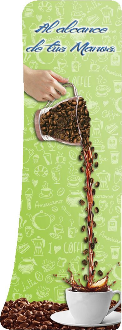 Parte delantera de la Maquina de Café / Dispensador de Café - Diploelca (2 Boceto)