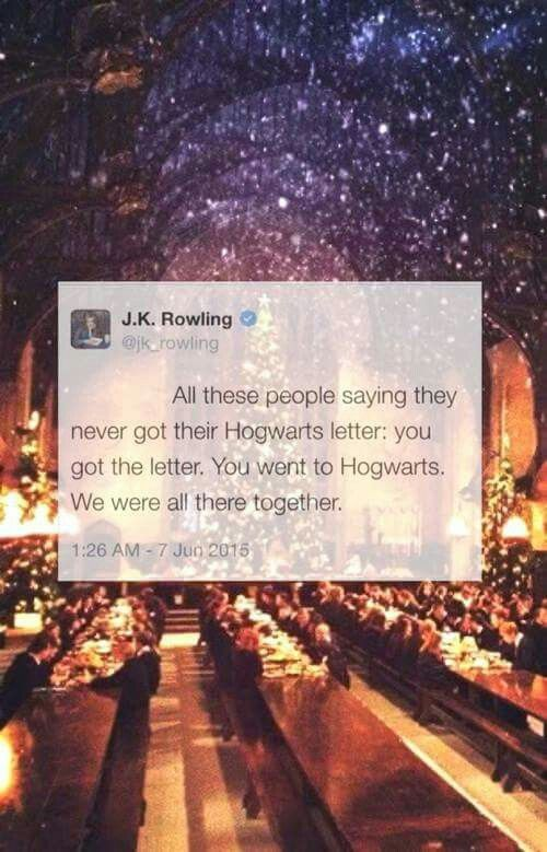 Everytime I read something like this from JKR, I start crying...