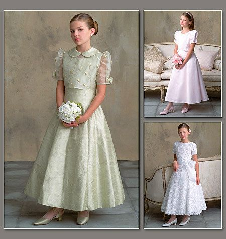 Fancy Dress Pattern Retired Vogue Flower Girl First