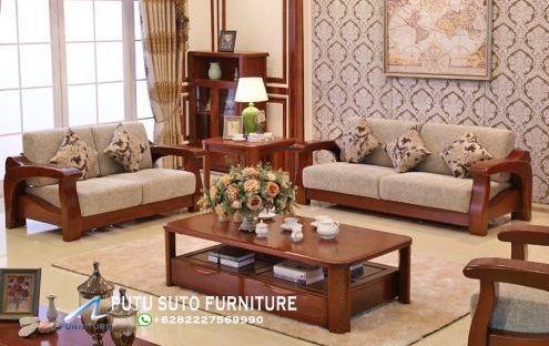 Kursi Tamu Minimalis Modern Bahan Kayu Jati Sofa Makeover