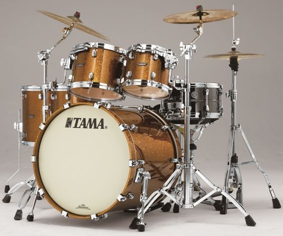 #Tama Starclassic Maple #Drums : Gold Rush Sparkle