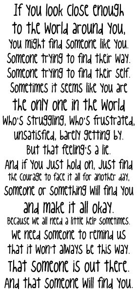 One Tree Hill quote again..surprise surprise :): Hold On, My Life, So True, Oth Quote, Thought, Quotes Sayings, Favorite Quotes, Onetreehill, One Tree Hill Quotes
