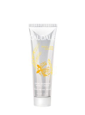 Caudalie - Hand and Nail Cream Miel de Vigne  -  Grape-seed Polyphenols, Vinolevure®, Shea butter, Grape oil: 98% natural hand creams with lovely smell.