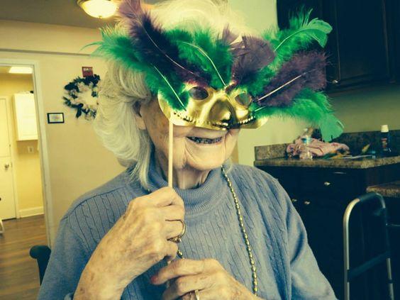 Celebrating Mardi Gras at Morningside House Senior Living!