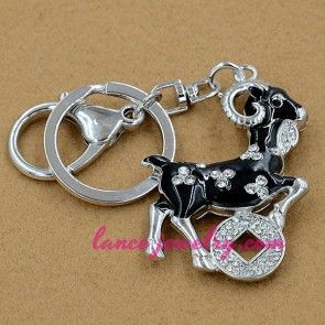 Fashion goat model pendant decoration key chain