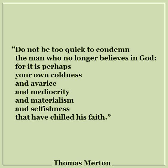 Thomas Merton quote--important to pray for our world!