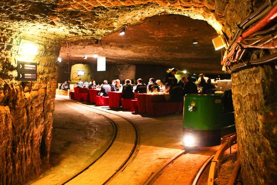Marty & I went into this...Salt Mine in Berchtesgaden, Germany. I have a picture of us sitting on a train...coming out after our tour-somewhere...I'll have to find it 7 scan it for fb  :D