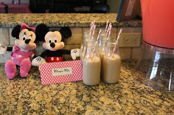 Mickeys milk (chocolate milk) and Le-Minnie-ade. :)