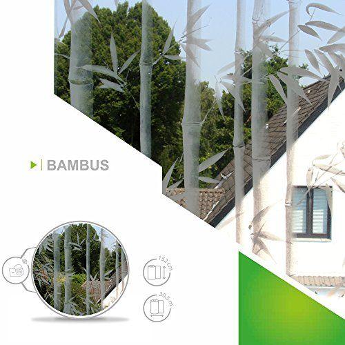 Fenster Folien Set selbstklebende Milchglasfolie Bambus 91cm - folie für badezimmerfenster