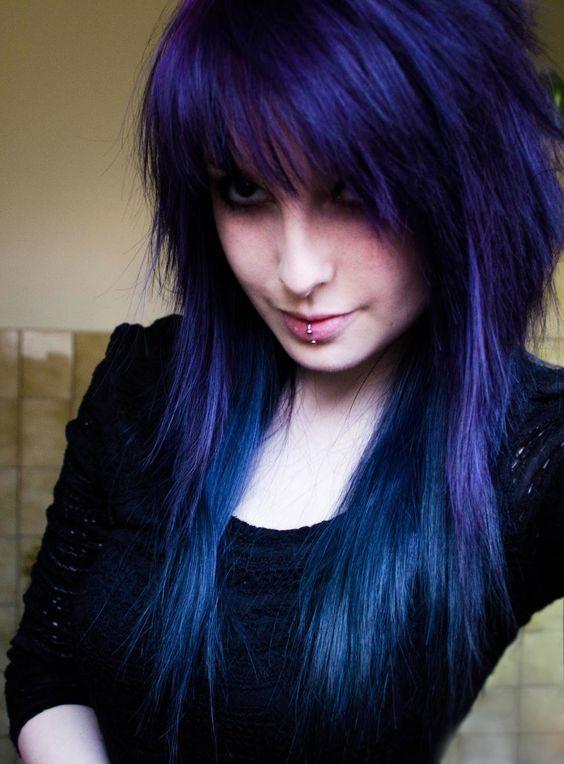 Pin by Dynasti Sixx-Von Monroe on Awesome Hair Ideas ... Indigo Blue Hair Color