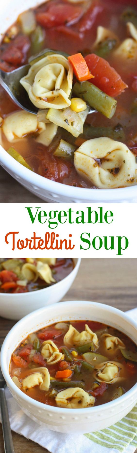 Tortellini soup, Tortellini and Vegetables on Pinterest