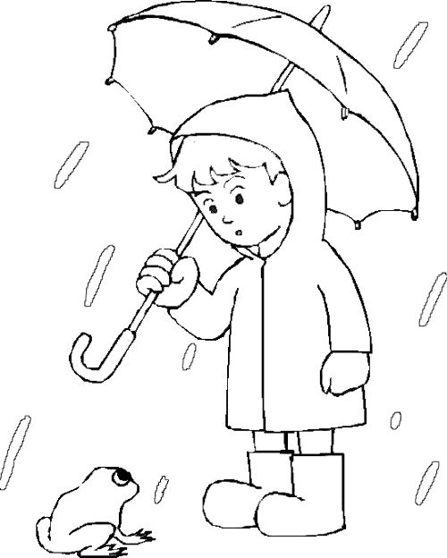 preschool rainy day coloring pages - photo#23