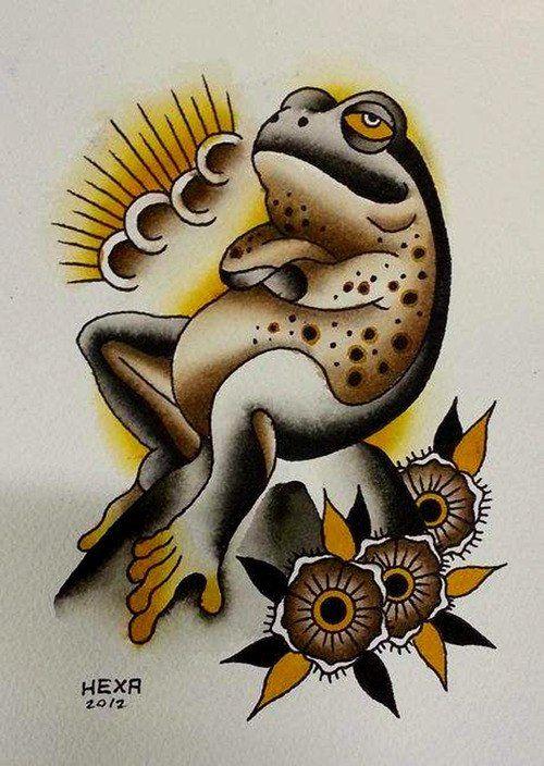 grenouilles designs de tatouage and tatouages de grenouille on pinterest. Black Bedroom Furniture Sets. Home Design Ideas