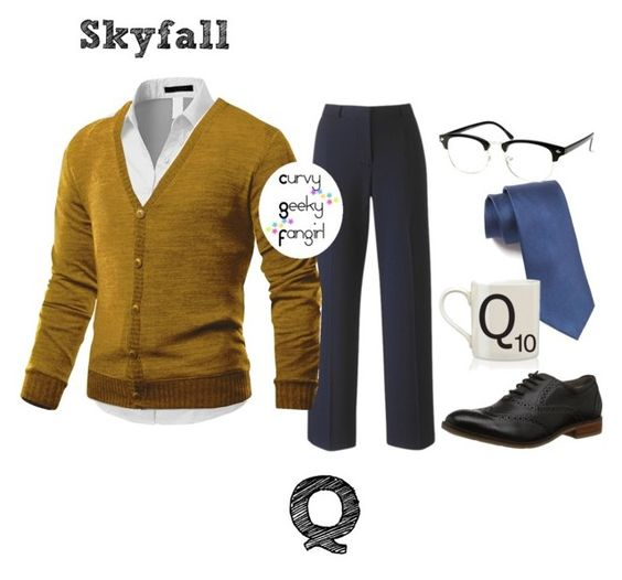 """Skyfall: Q"" by curvygeekyfangirl ❤ liked on Polyvore featuring Doublju"