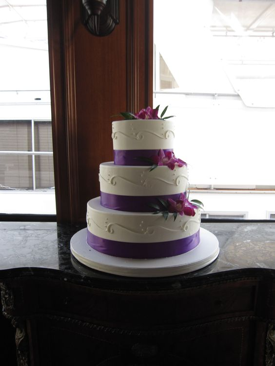 Purple cake flowers.