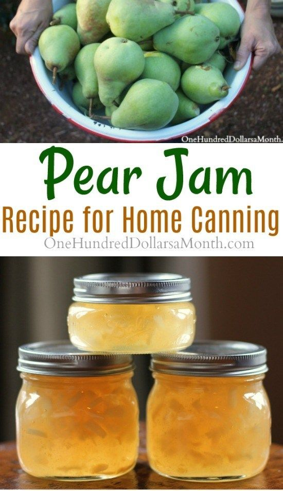 Canning 101: How to Make Pear Jam - One Hundred Dollars a Month