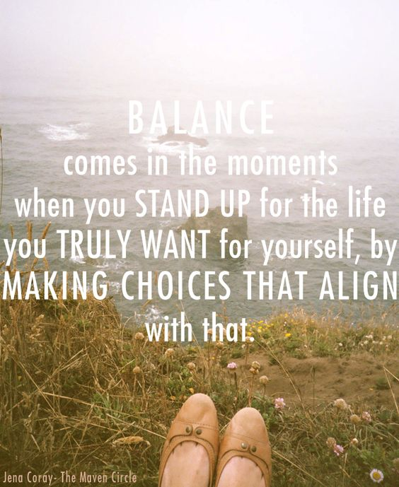 can you really find balance?