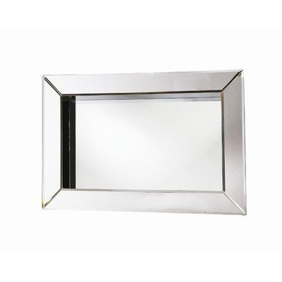 Howard Elliott Angela Rectangular Box Framed Wall Mirror | Wayfair