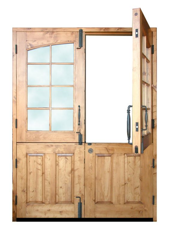 These would be perfect in red red double dutch doors for External wooden back doors