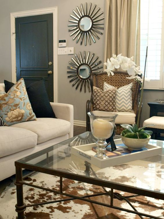 Use mirrors in a small room to add light