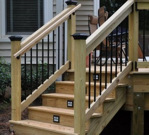 Outdoor Stairs Stair Railing And Outdoor On Pinterest