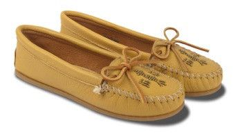 Wren x Minnetonka Natural Beaded Moccasins