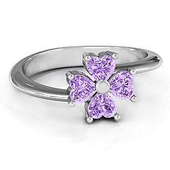 Four Heart Clover Ring #jewlr