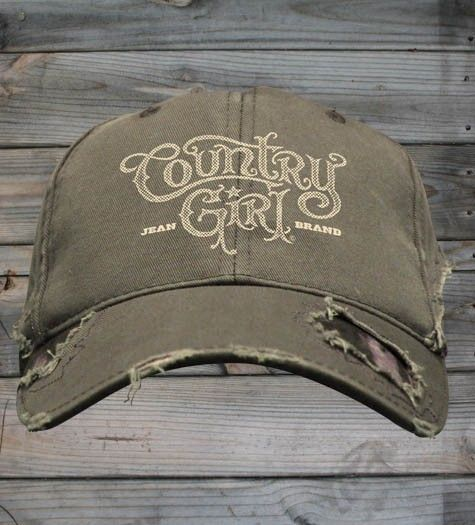 Country Girl ® Logo Frayed Camo Cap - Country Fashion Clothing