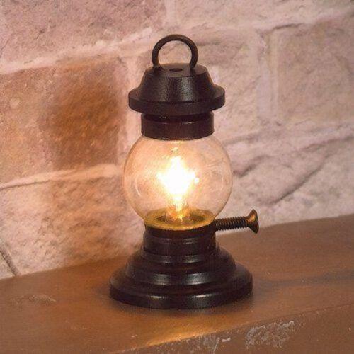 Dollhouse Miniature Tilley Lamp Lantern 12 Volt with Plug 1:12 Scale