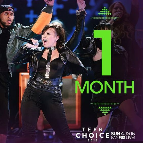 LIKE if you can't wait for #TeenChoice in just ONE month! Don't miss it Sunday, August 16 at 8/7c LIVE on @FOXTV!