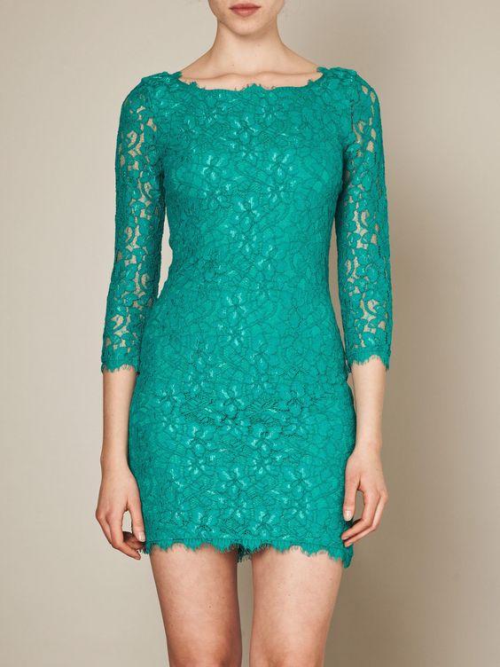 Zarita lace dress parakeet