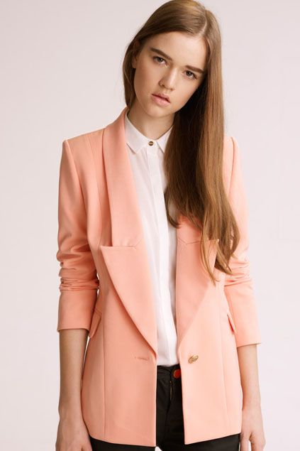 Beautiful one button pink suit