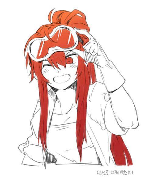 Elsword Elesie Anime Redhead Anime Lineart Elsword