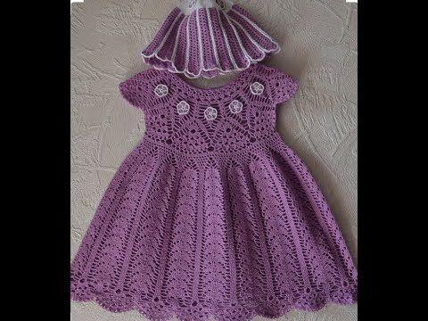 Orgu Cocuk Elbise Modelleri El Orgusu Bebek Elbiseleri Knitting Crochet Youtube Kiz Bebek Tig Bebek Giysi Desenlerleri Krose