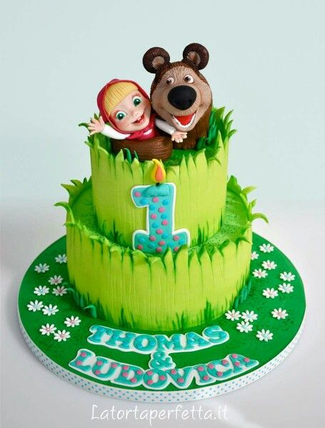 Masha and the Bear cake: