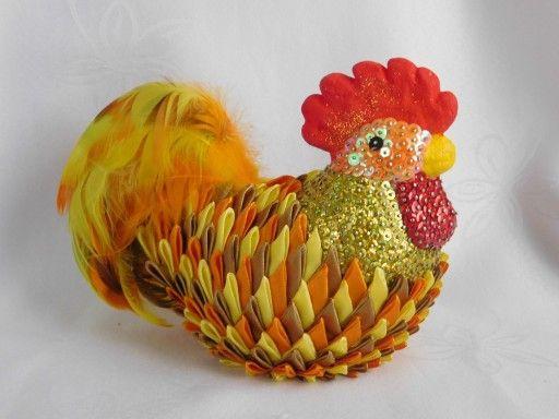 Duze Jajko Pisanka Ozdoby Wielkanocne Rekodzielo 7784856406 Oficjalne Archiwum Allegro Quilling Rooster Kanzashi