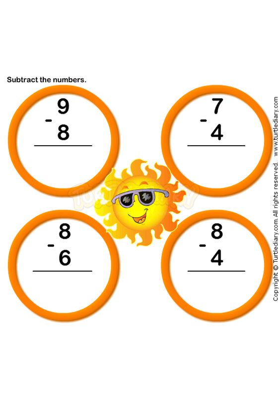 Subtraction Worksheet 7 math Worksheets kindergarten – Free Kindergarten Worksheets Online