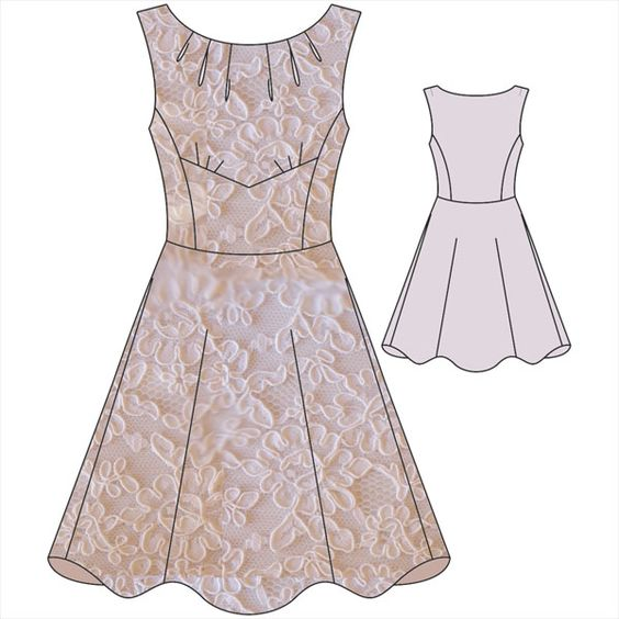 Long dress detachable skirt uniform