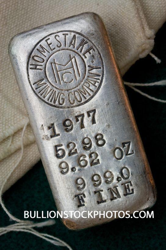 Homestake Mining Company Silver Bullion Bar Hand Poured Ingot Made In 1977 At Lead South Dakota Usa Bar 5298 Gold Bullion Coins Silver Bullion Fancy Logo