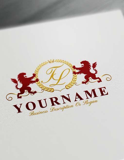 Make Logo Online Royal Lions Logo Template Free Letters Logo