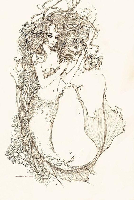 Request: Mermaid by ~bluesaga331 on deviantART