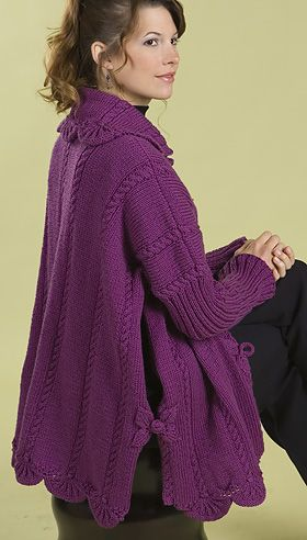 Poncho Jacket Knitting Pattern : Ponchos, Unicorn pattern and Leaves on Pinterest