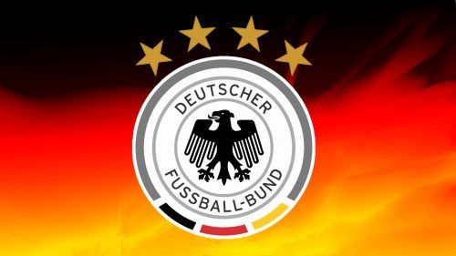 Germany Football Logo Wallpaper With 4 Stars And National Flag Hd Wallpapers Wallpapers Download High Resolution Wallpapers Germany Football Football Logo Iran National Football Team